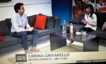 CARINA GRIVARELLO EN CANAL 8 DE CÓRDOBA