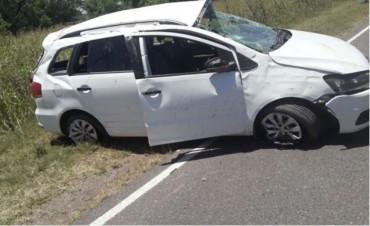 FAMILIA DE CORRAL DE BUSTOS PROTAGONIZÓ GRAVE ACCIDENTE