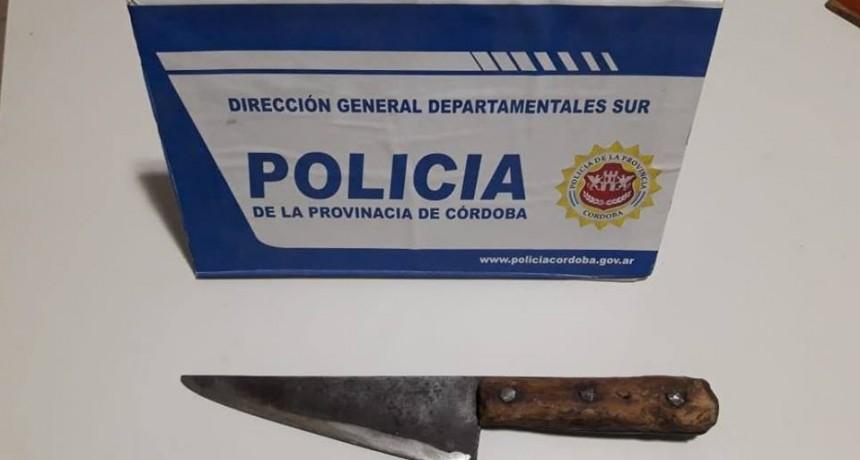 MASCULINO APUÑALADO EN EL PREDIO DEL FERROCARRIL