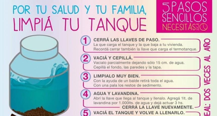 RECOMENDACIONES PARA LIMPIAR EL TANQUE