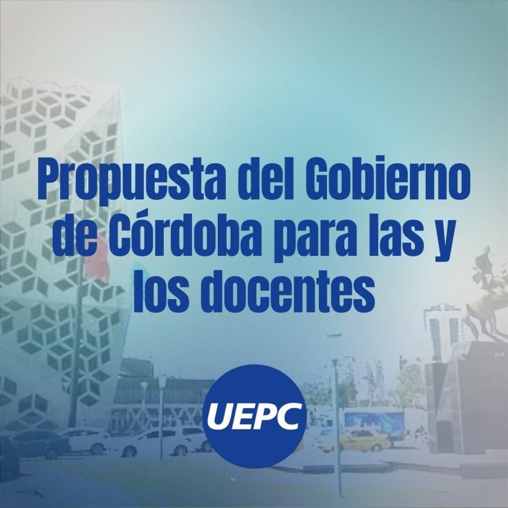 PROPUESTA DEL GOBIERNO PARA DOCENTES CORDOBESES