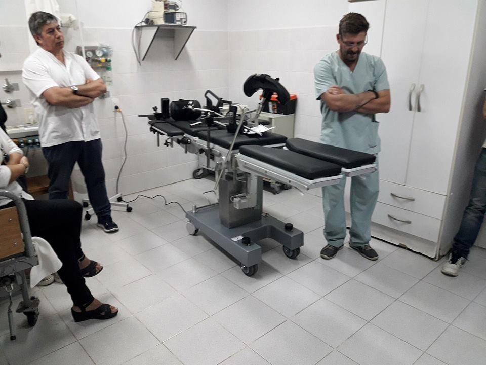 UNA CAMILLA NUEVA PARA EL HOSPITAL