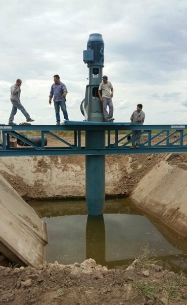 LA SALADA: YA FUNCIONA SISTEMA DE BOMBEO