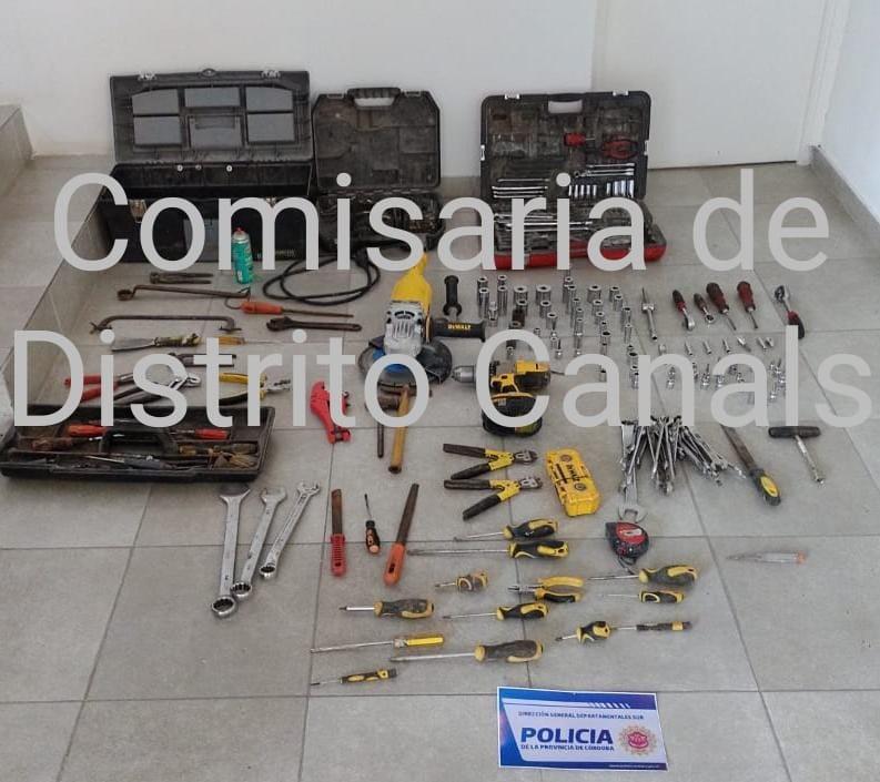 POLICÍA DE CANALS RECUPERÓ HERRAMIENTAS ROBADAS