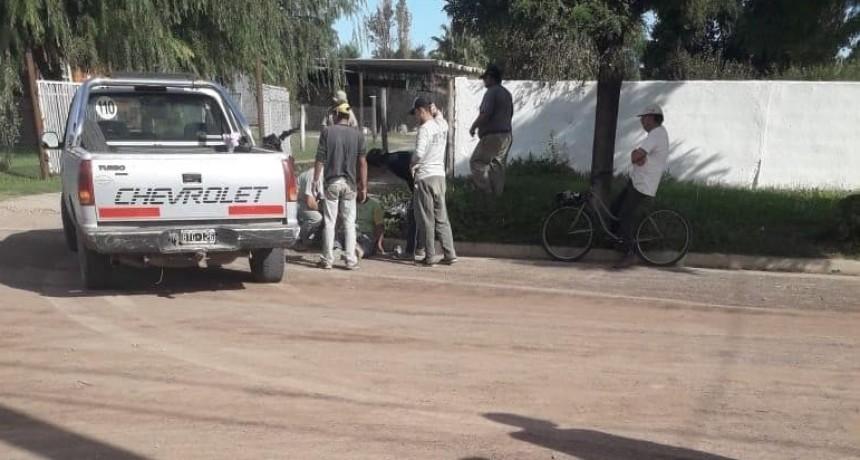 COLISIÓN ENTRE MOTO Y CAMIONETA EN BARRIO BARRACAS