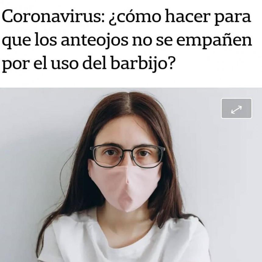 QUE NO SE EMPAÑE EL ANTEOJOS