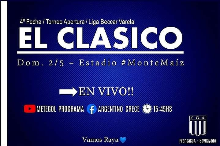 EL CLÁSICO EN VIVO POR YOUTUBE Y POR FACEBOOK