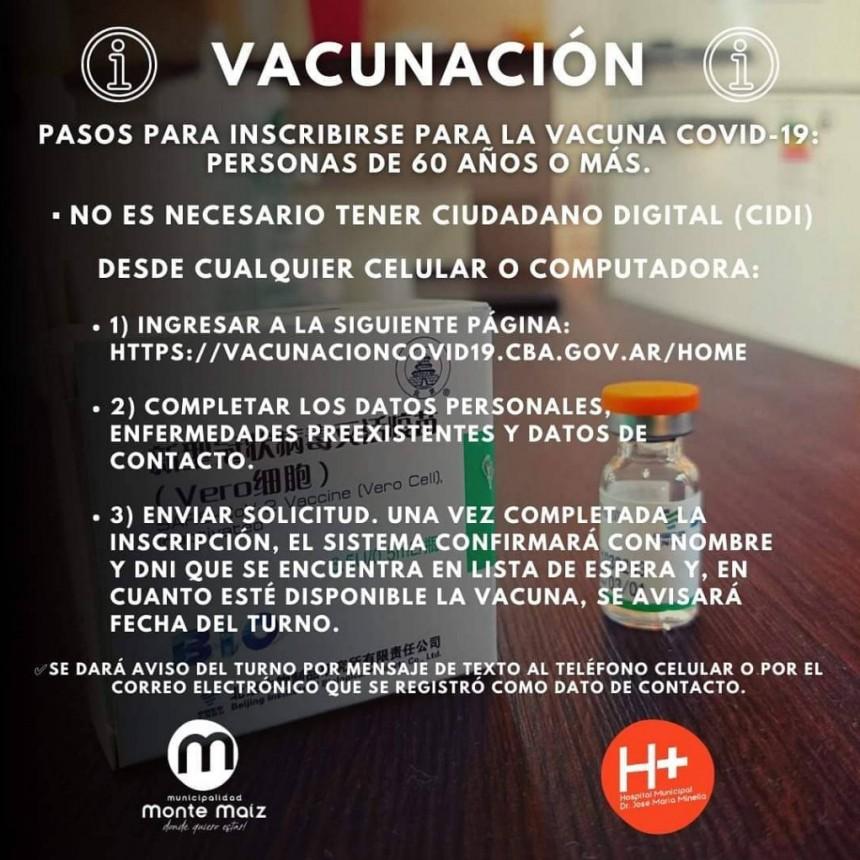 INSCRIPCIÓN PARA LA VACUNA DEL COVID-19