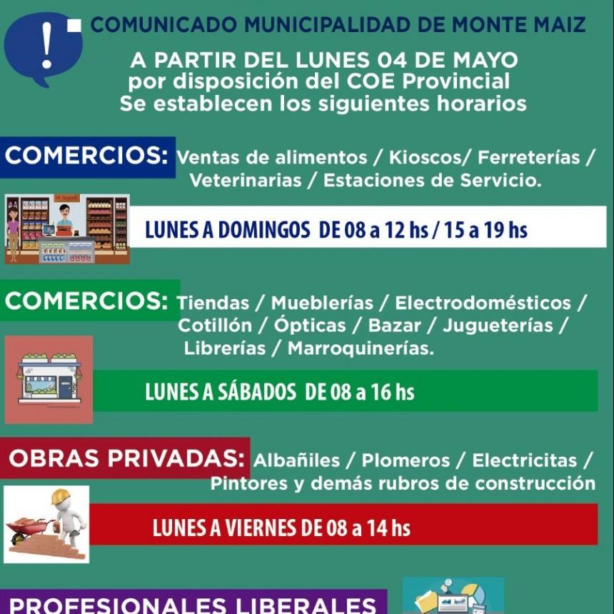 AUTORIZAN NUEVOS HORARIOS PARA EL COMERCIO