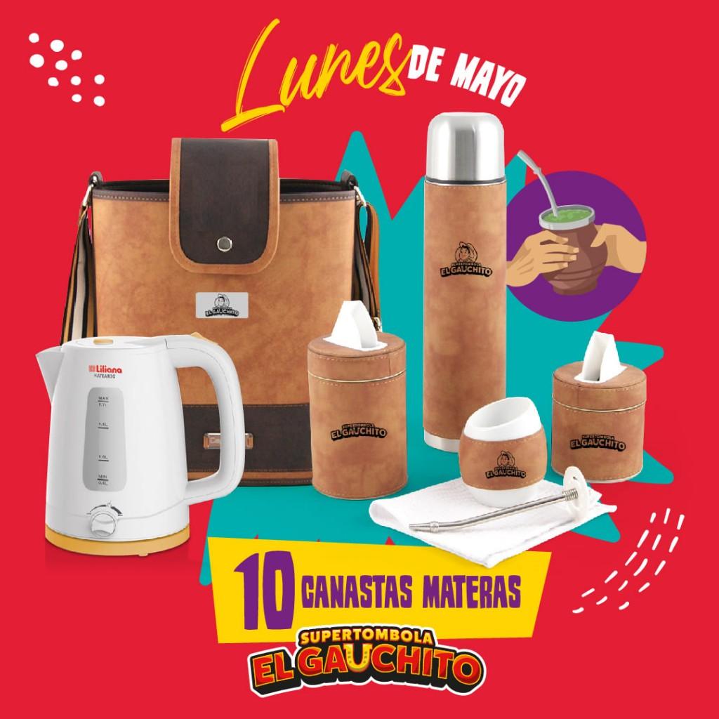 EL GAUCHITO: SORTEO DE 10 CANASTAS MATERAS