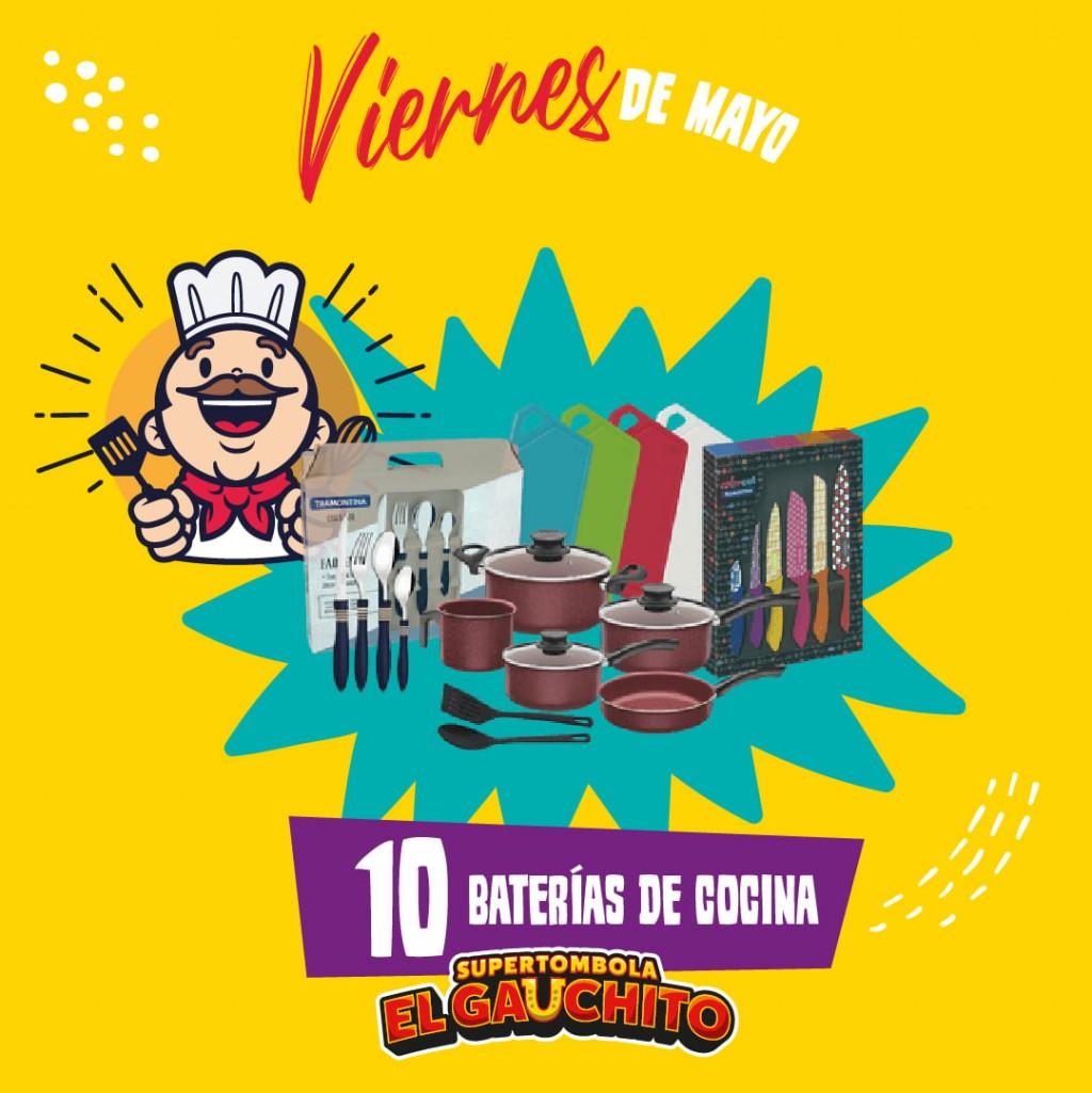 SORTEO DE 10 BATERÍAS DE COCINA