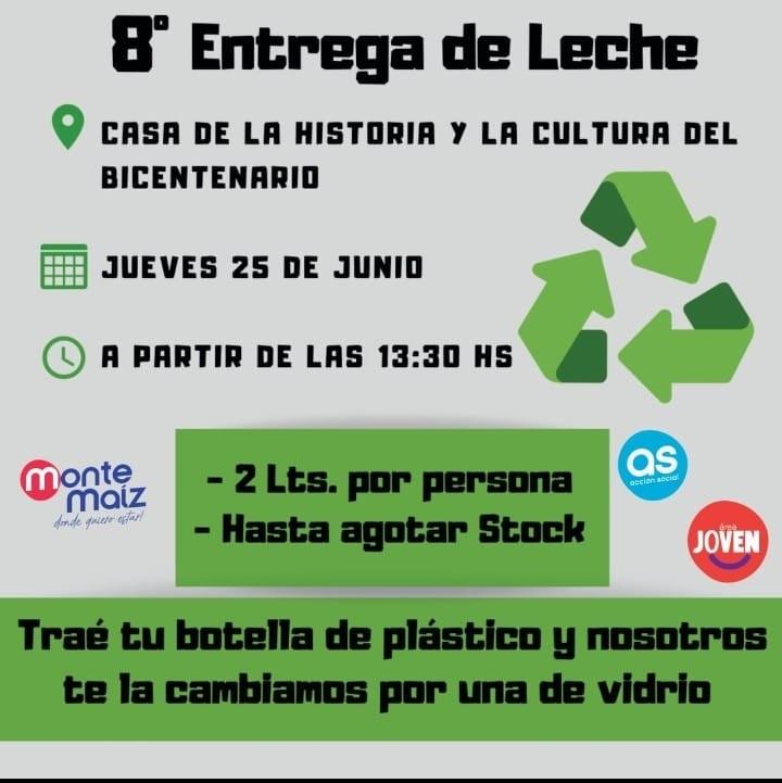 8° ENTREGA DE LECHE EN LA CASA DE LA CULTURA