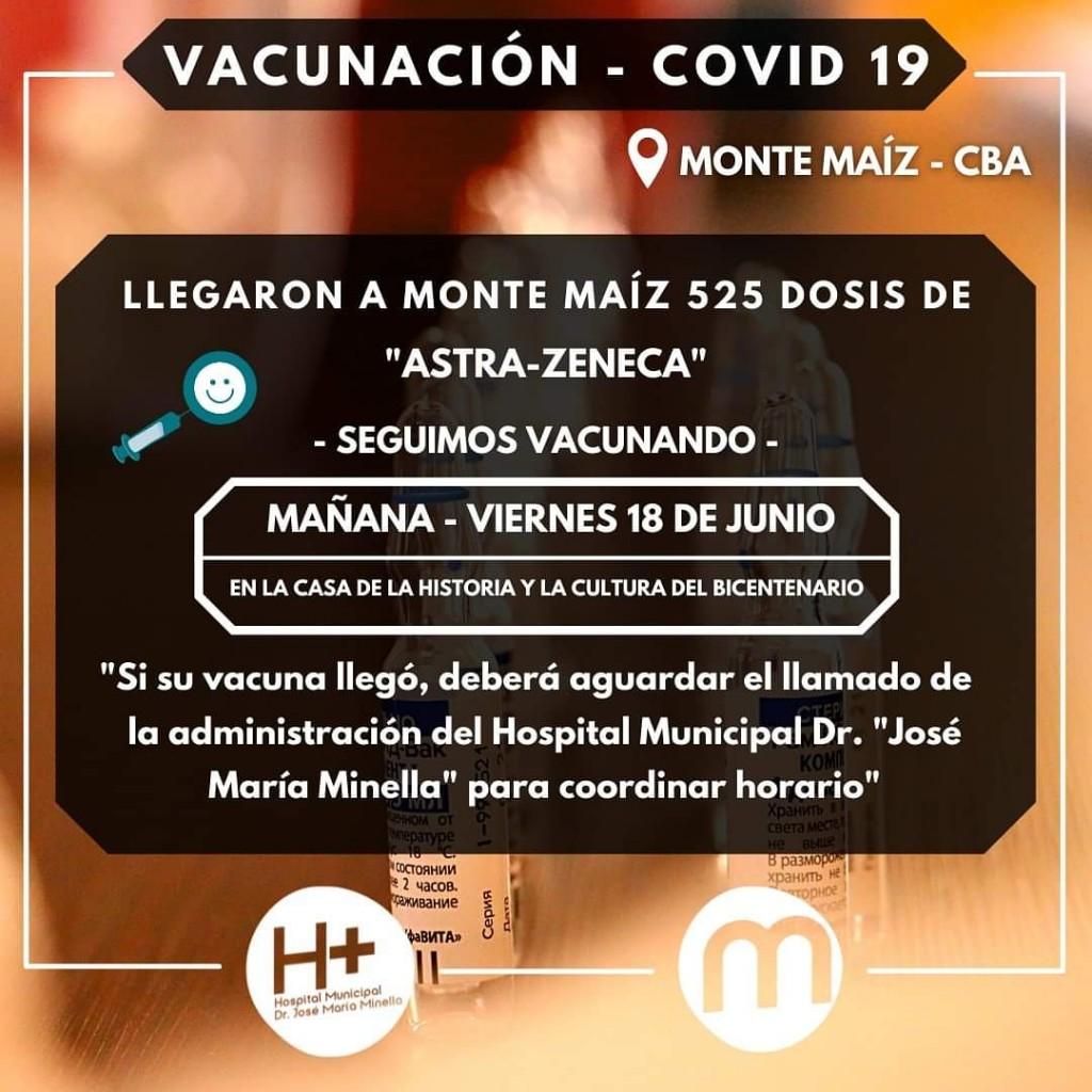 LLEGARON 525 DOSIS DE ASTRAZENECA