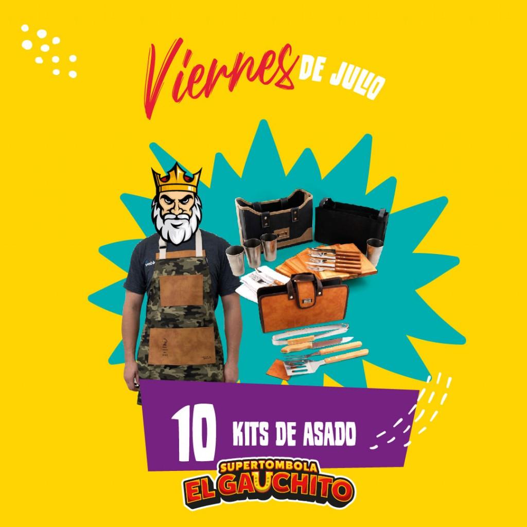 GANADORES DE LOS 10 KITS DE ASADO