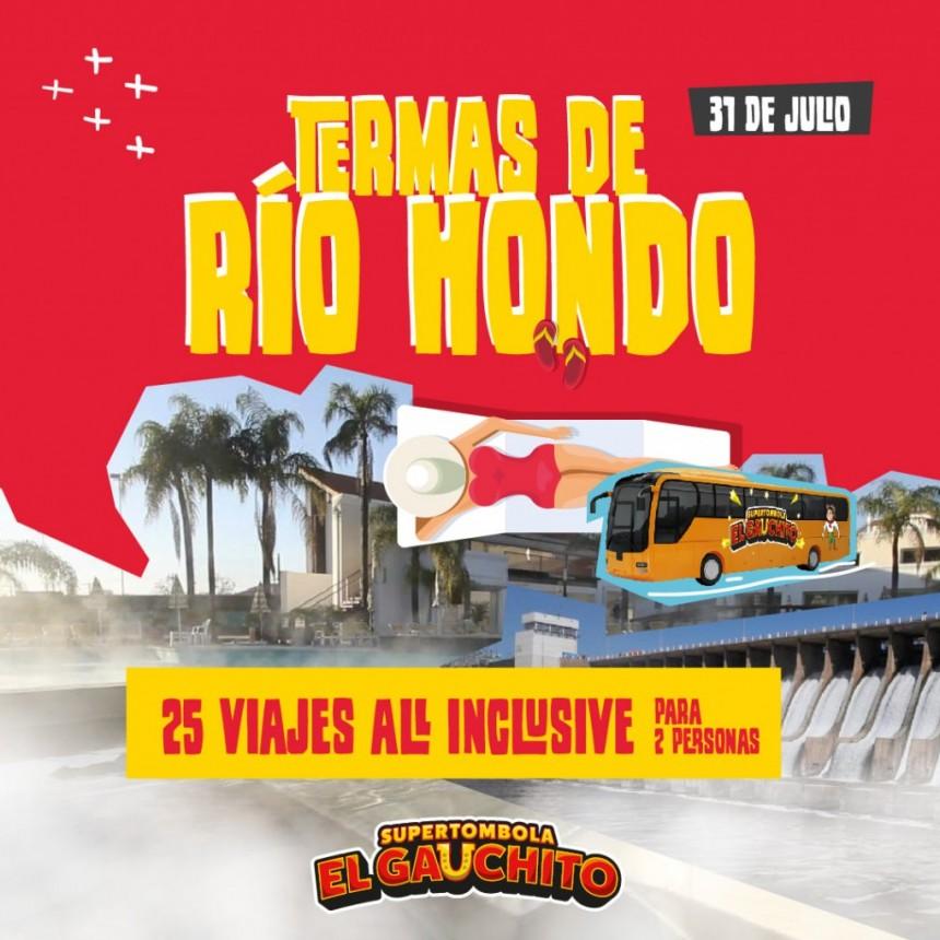 SORTEO DE VIAJES A LAS TERMAS DE RÍO HONDO