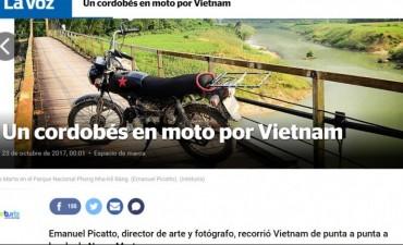 RECORRIÓ VIETNAM EN MOTO