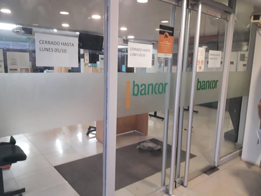 CIERRAN SUCURSAL DE BANCOR POR CASO DE COVID-19