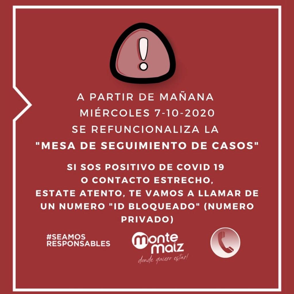 CORONAVIRUS: MESA DE SEGUIMIENTO DE CASOS