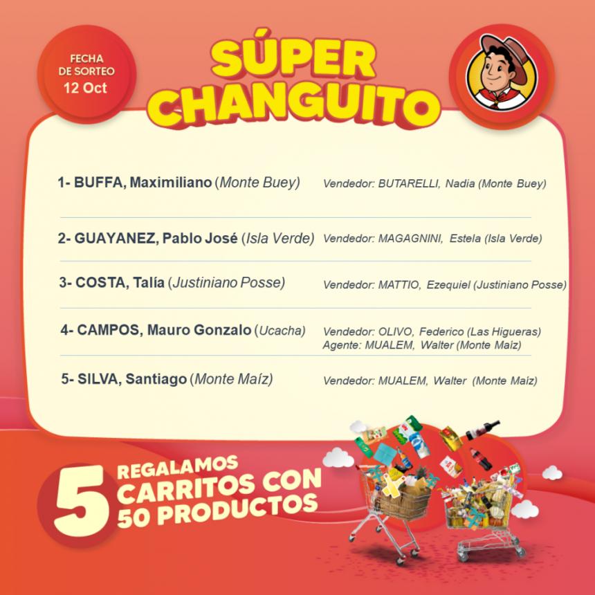 EL GAUCHITO: SORTEOS DE LOS SÚPER CHANGUITOS
