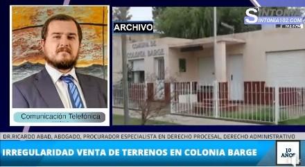 INVESTIGAN VENTA DE TERRENOS EN COLONIA BARGE