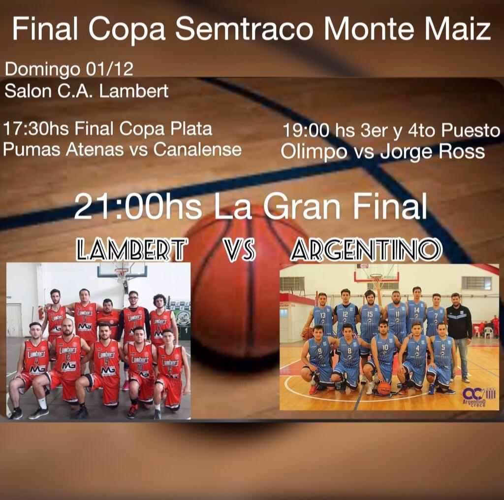 FINAL DE LA COPA MONTE MAÍZ SEMTRACO S.A.