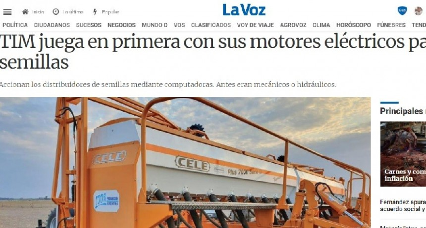 TIM: MOTORES ELÉCTRICOS PARA SEMILLAS