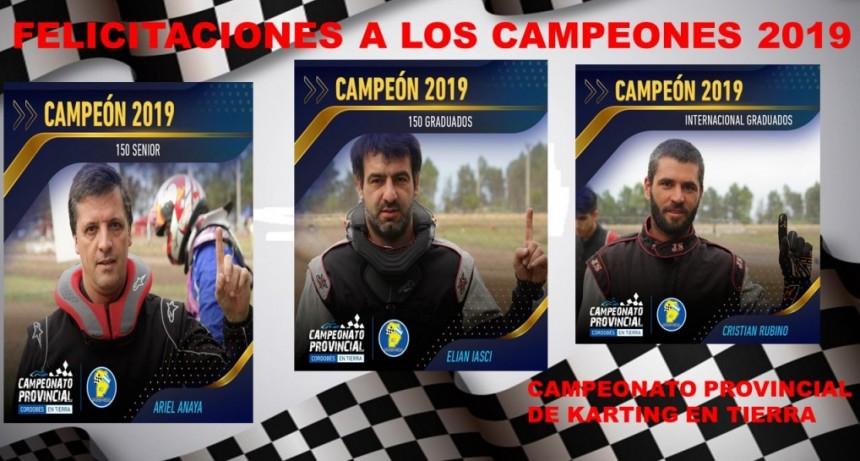 KARTING EN TIERRA: TRES CAMPEONES PROVINCIALES