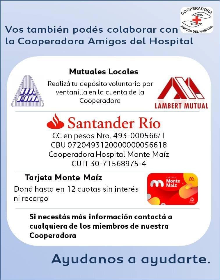 LA COOPERADORA DEL HOSPITAL CUMPLIÓ 5 AÑOS