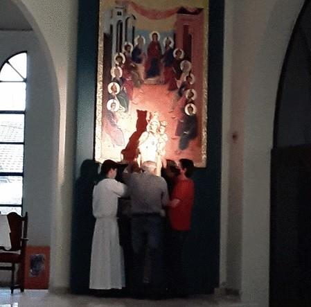 LA IMAGEN DE MARÍA VOLVIÓ A SU LUGAR TRADICIONAL