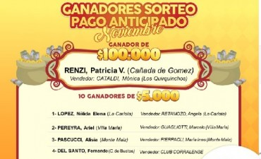 SORTEO PAGO ANTICIPADO DEL GAUCHITO