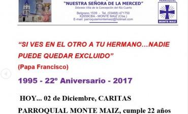 CARITAS PARROQUIAL CUMPLE 22 AÑOS