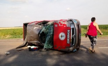 BOMBERO DE CORRAL DE BUSTOS ACCIDENTADO