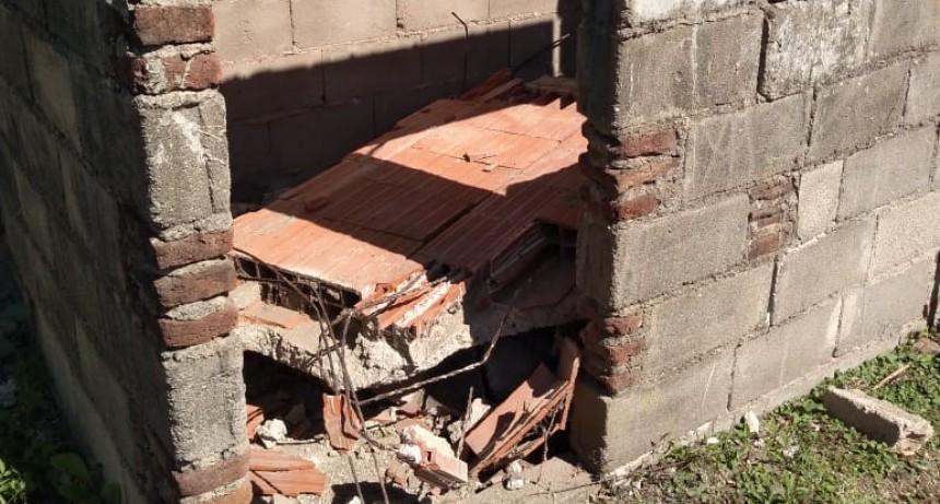 JOVEN ACCIDENTADO TRAS CAER DE UN TECHO